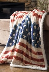 Carstens Stars & Stripes Fleece Throw