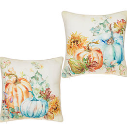 Raz Fall Pumpkins/Sunflowers Pillow