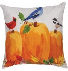 Manual Harvest Birds/Pumpkin Pillow