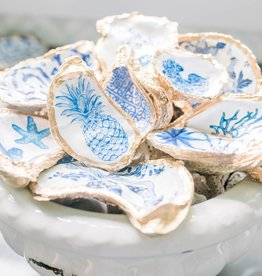 Kcrook Designs Blue Pineapple Oyster Shell Dish