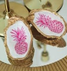 Kcrook Designs Pink Pineapple Oyster Shell Dish