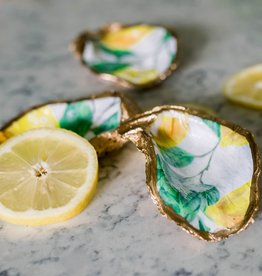 Kcrook Designs Lemons Oyster Shell Dish