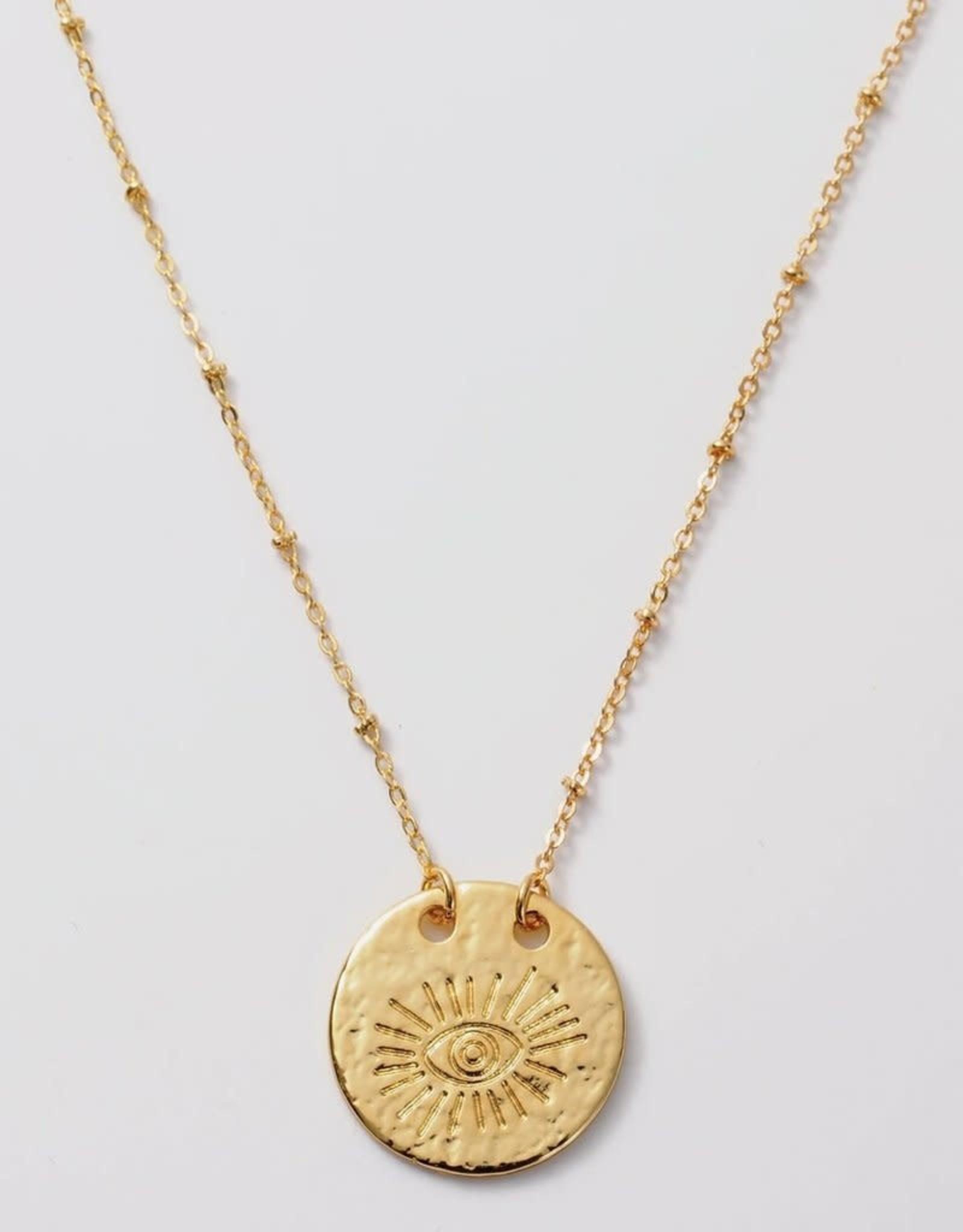 Melania Clara Luna Eye Necklace