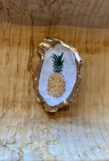 Kcrook Designs Gold Pineapple Oyster Shell