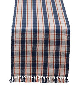 Design Imports Autumn Farmhouse Plaid Table Runner 13x72