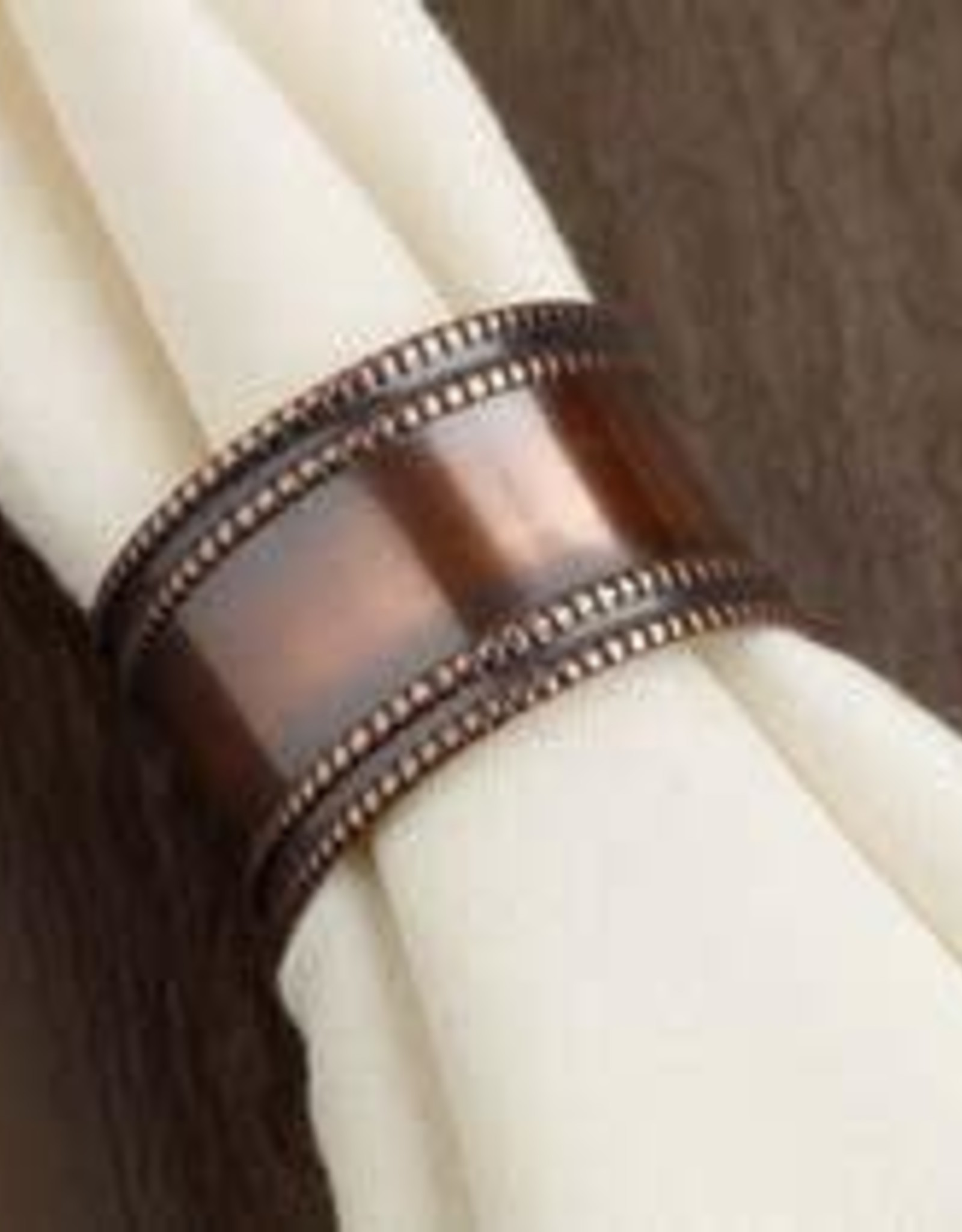 Design Imports Antique Copper Band Napkin Ring