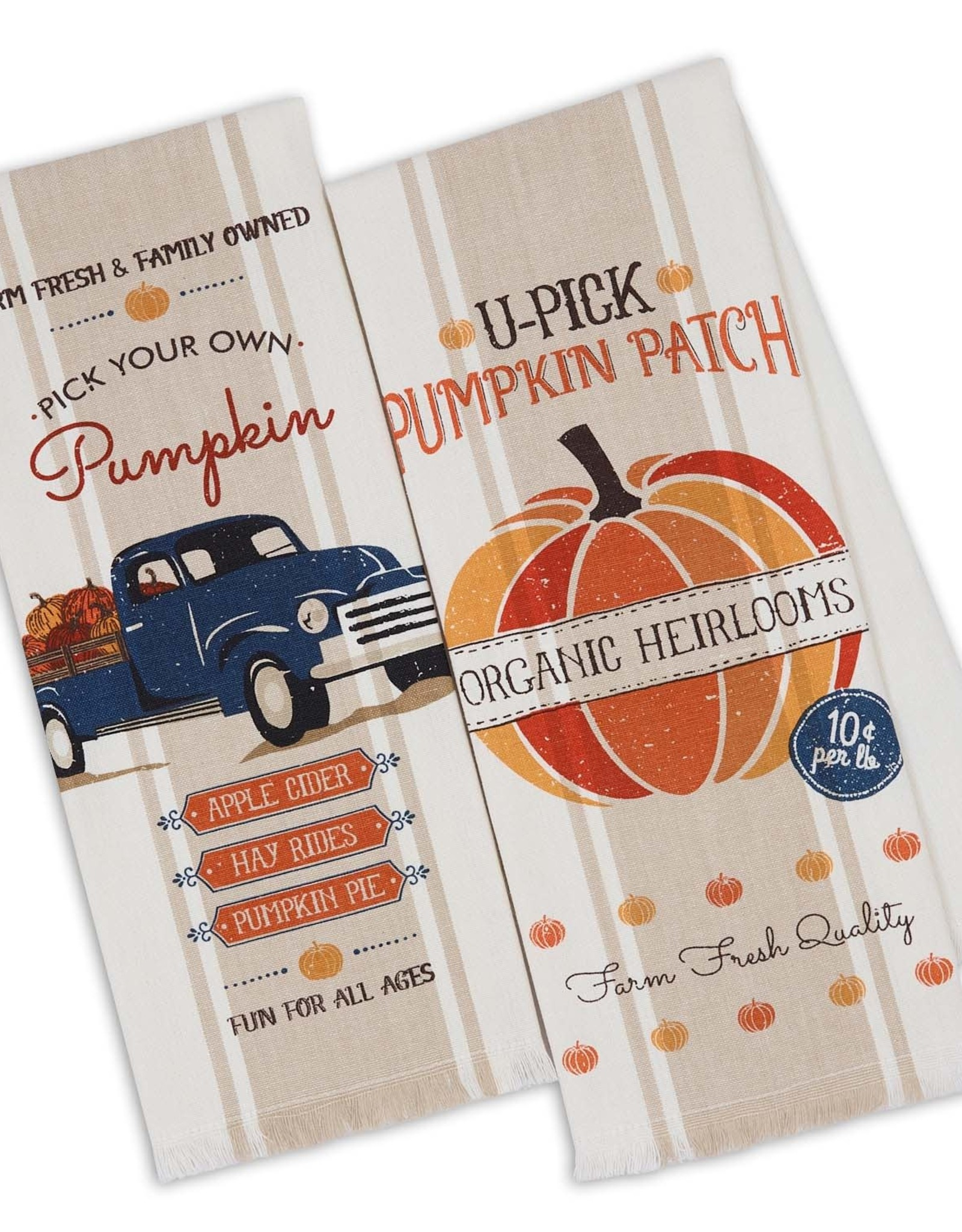 Design Imports Pumpkin Farm Dishtowel