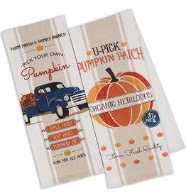 Design Imports Pumpkin Farm Dishtowel