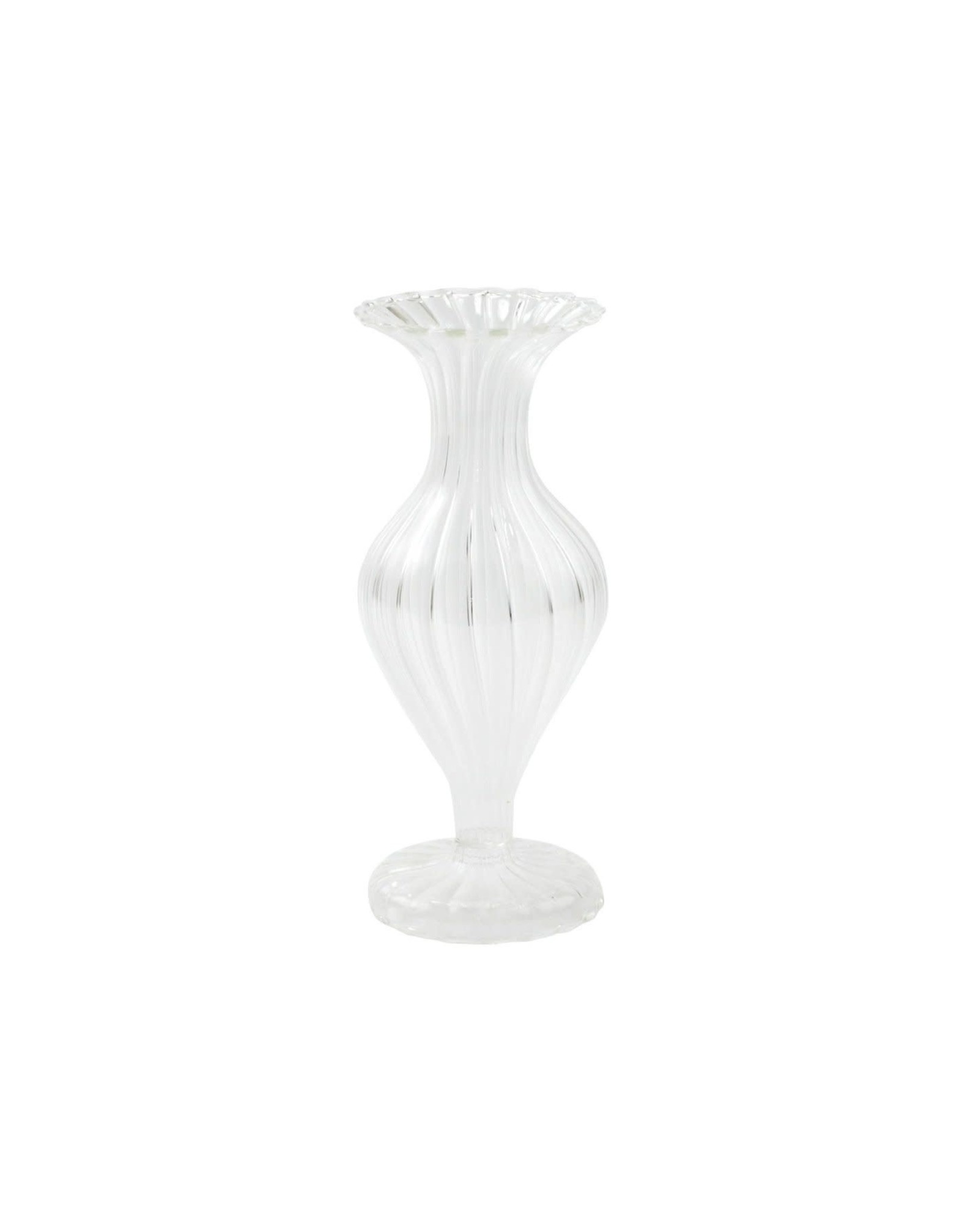 Vietri Ottico Glass Short Bud Vase/Candleholder-Set of 2
