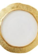 Vietri Rufolo Glass Gold Organic Service Plate/Charger