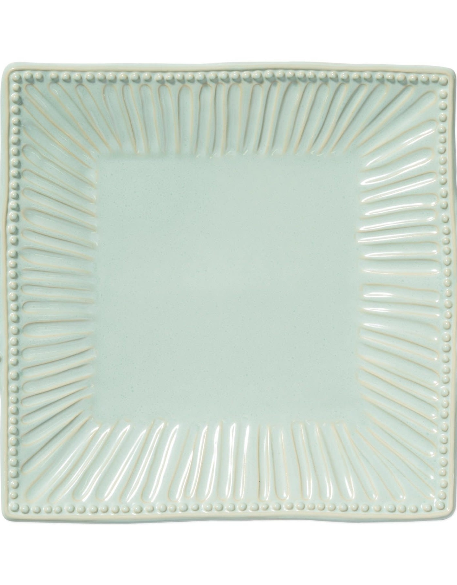 Vietri Incanto Stone Aqua Stripe Square Platter