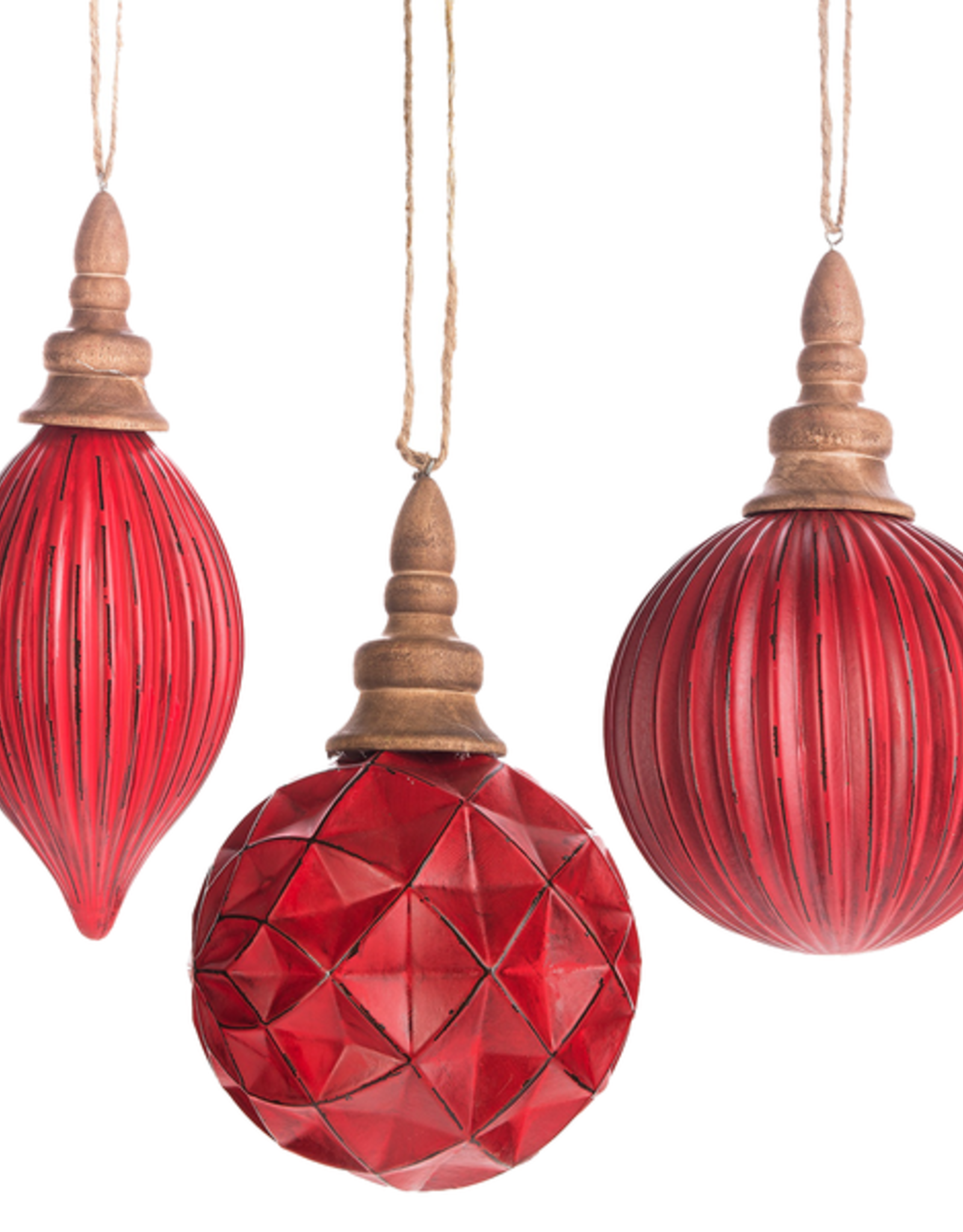 Midwest-CBK Red Glass Ball Drop Ornament