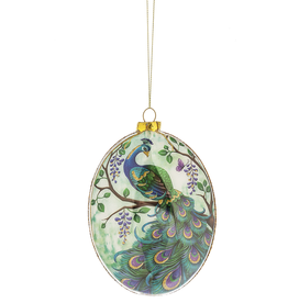 Midwest-CBK Glass Peacock Ornament