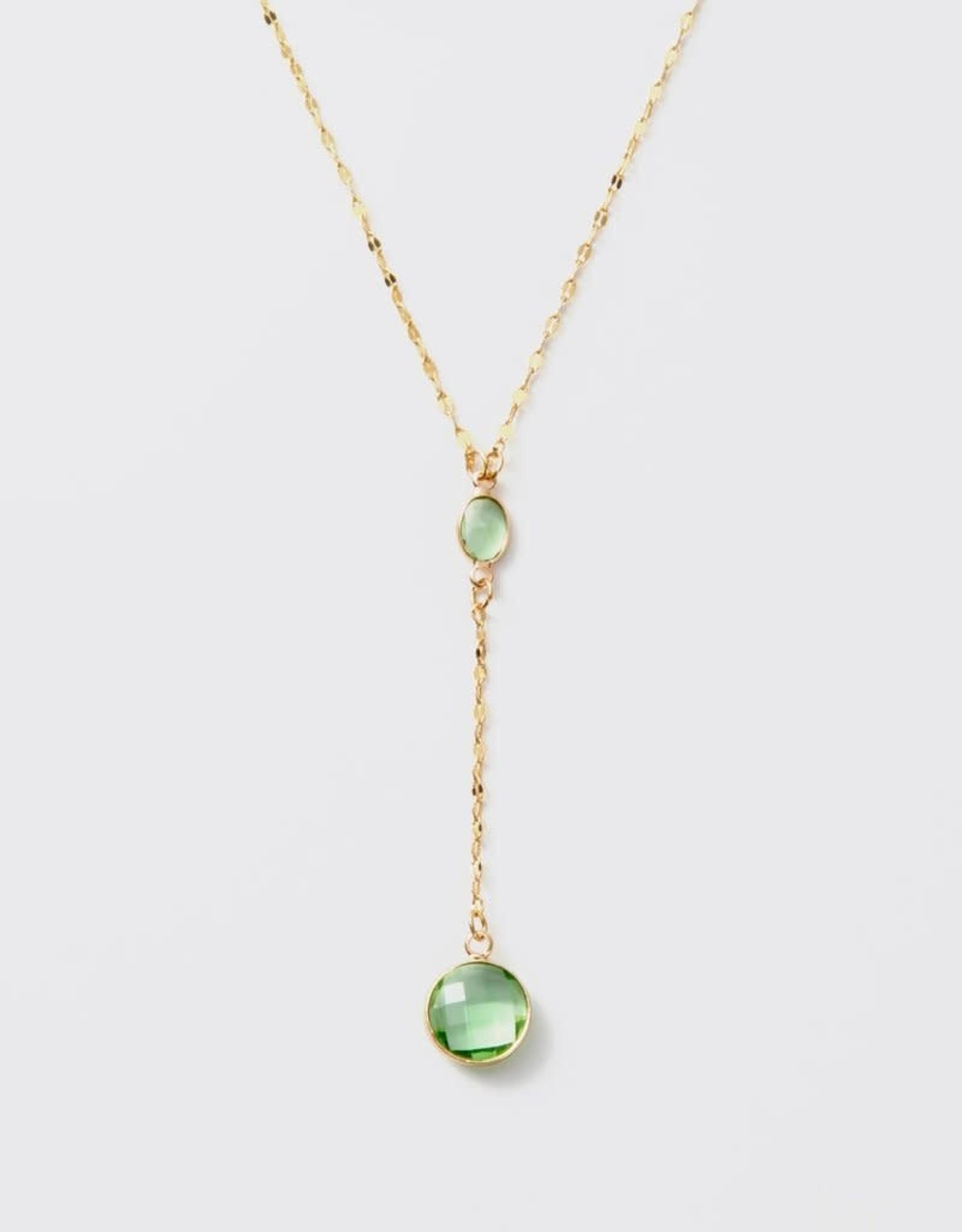 Melania Clara Luna Chroma Mint Necklace