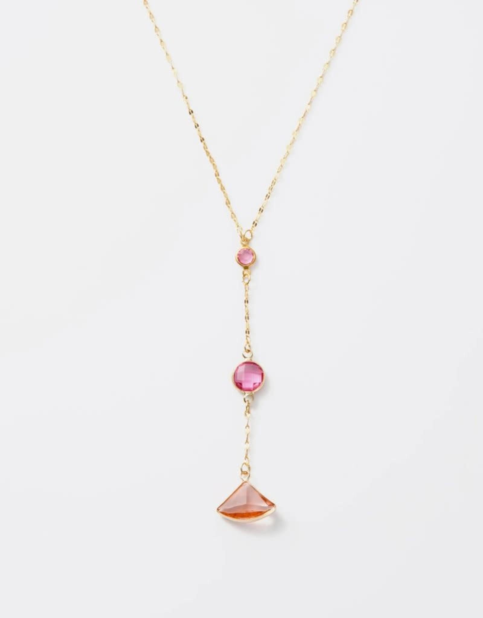 Melania Clara Luna Chroma Pink Necklace