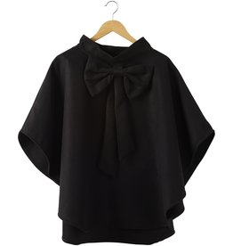 tickled pink Black Elsa Bow Cape