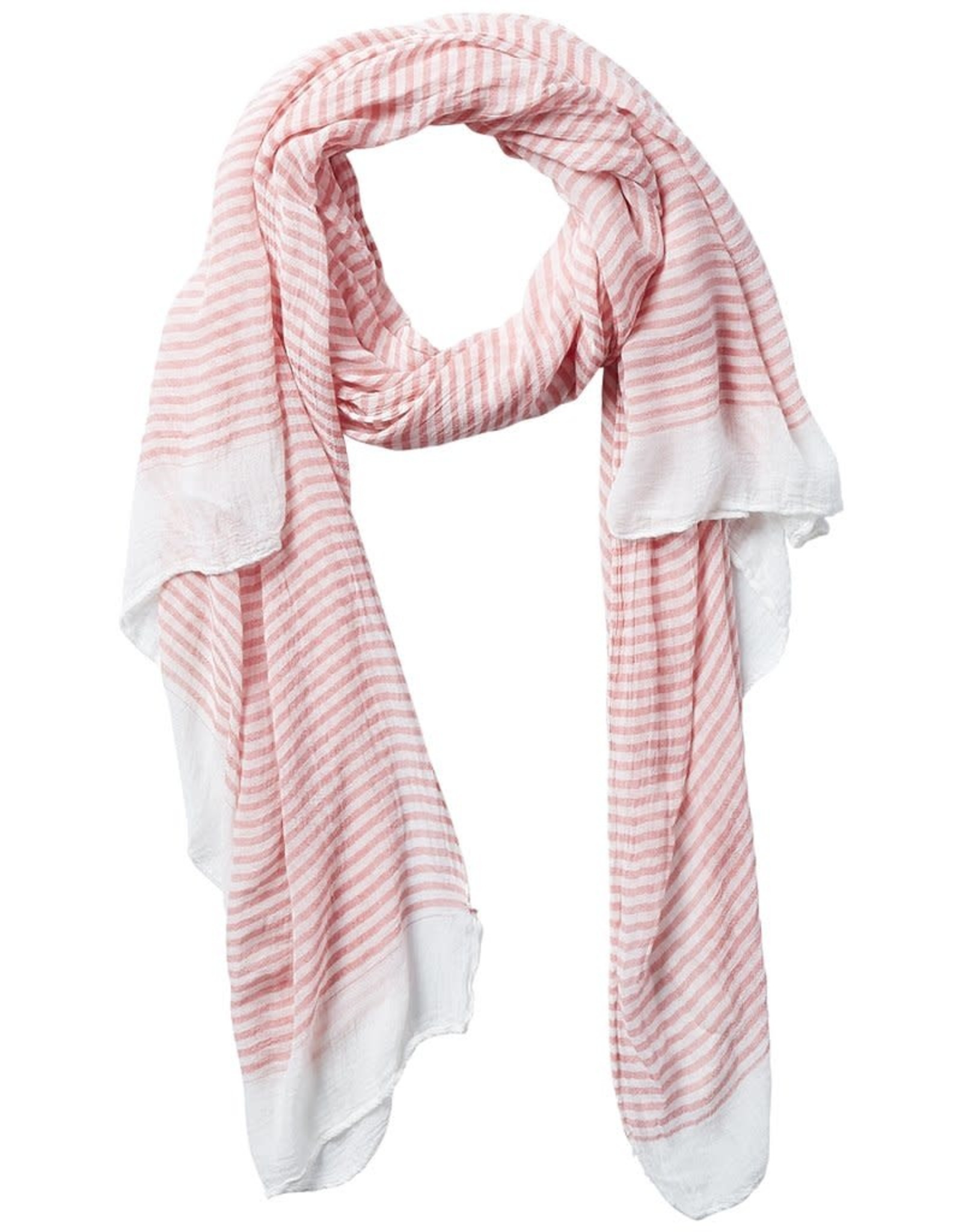 tickled pink Coral Stripe Insect Shield Scarf
