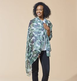 tickled pink Green Camo Insect Shield Scarf
