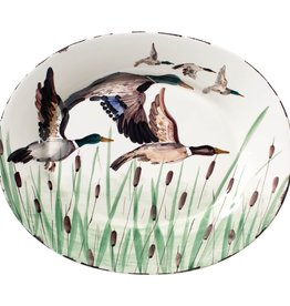 Vietri Wildlife Mallard Large Oval Platter