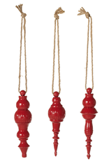 Midwest-CBK Mini Red Distressed Finial Ornament