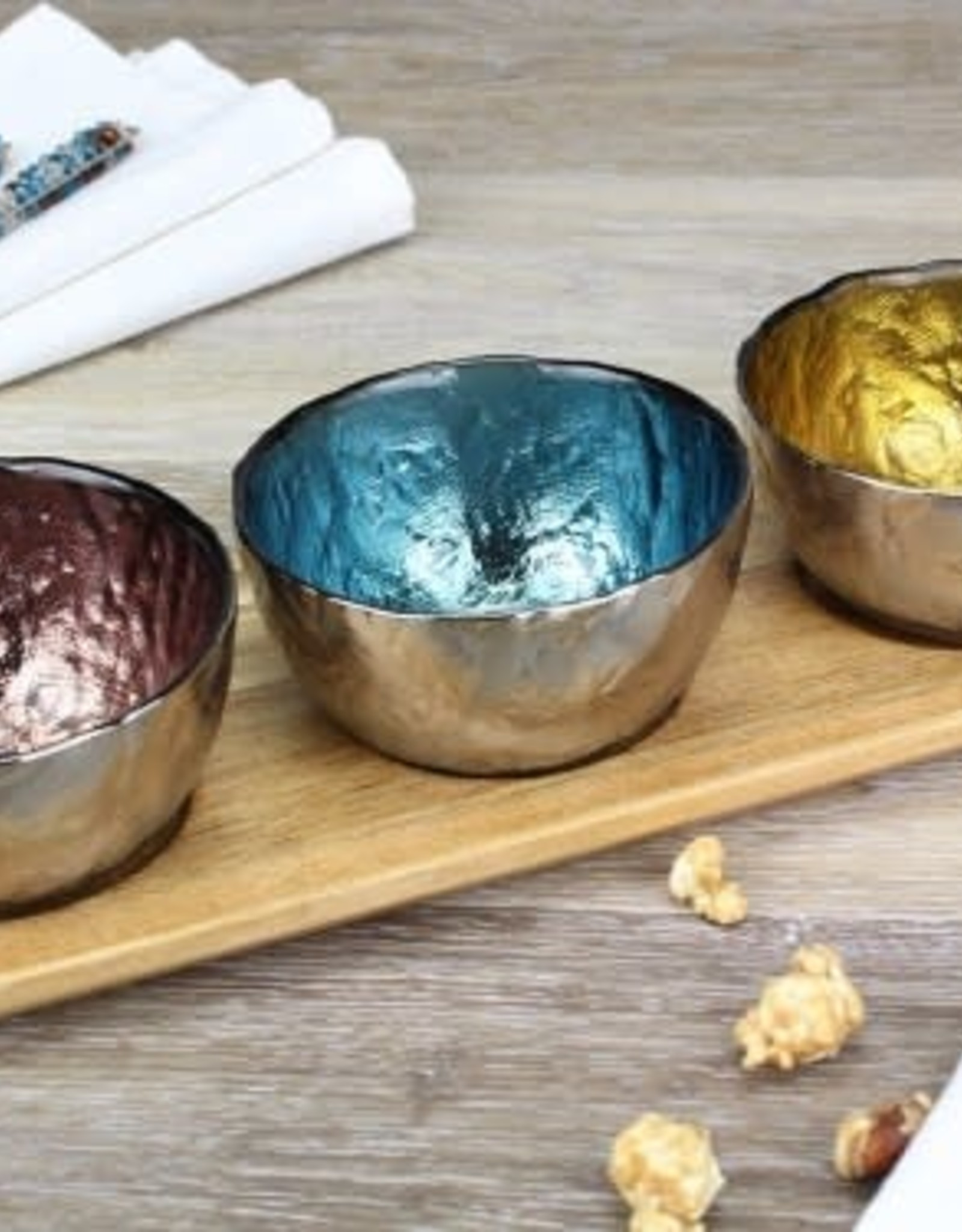 Pampa Bay Colored Glass Bowl 3Pc Set