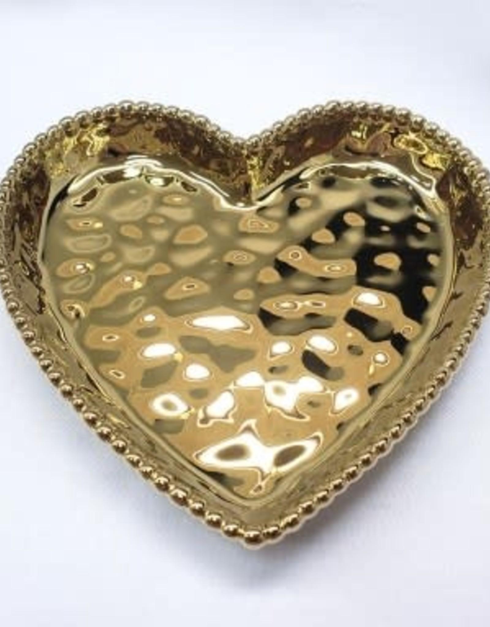 Pampa Bay Medium Heart Dish, Gold
