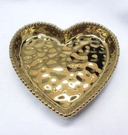 Pampa Bay Medium Heart Dish, Gold