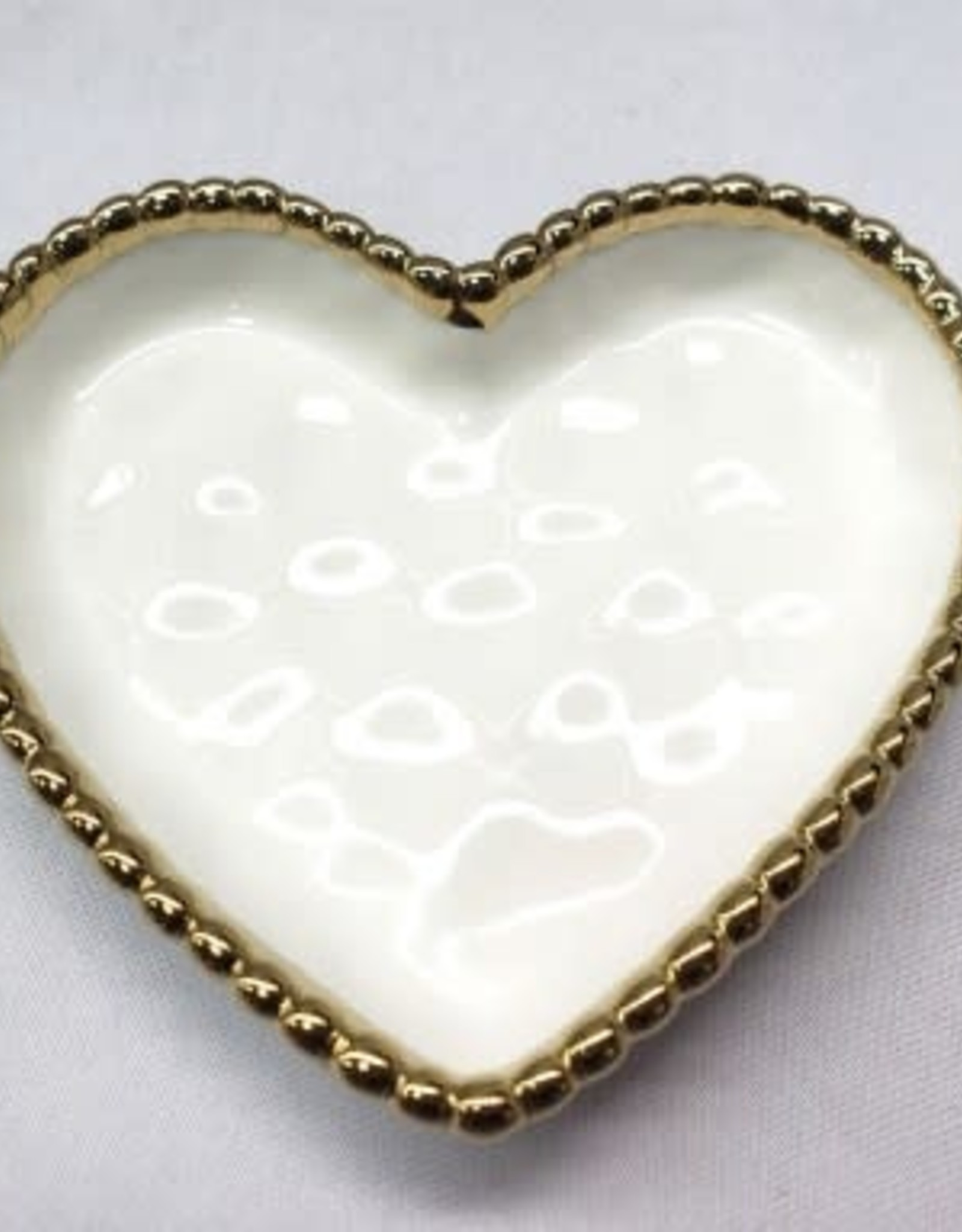 Pampa Bay Small Heart Dish, White Gold