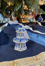 "Raz Pagoda Ornament 4.25"""