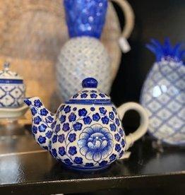 Sea Island Imports Blue & White Porcelain Teapot