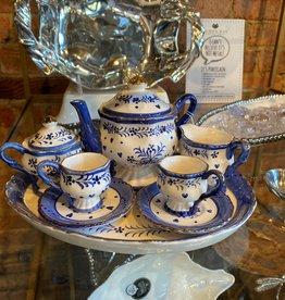 Sea Island Imports Blue & White Porcelain Tea Set