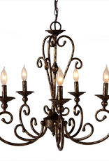 Midwest-CBK Antique Gold Chandelier