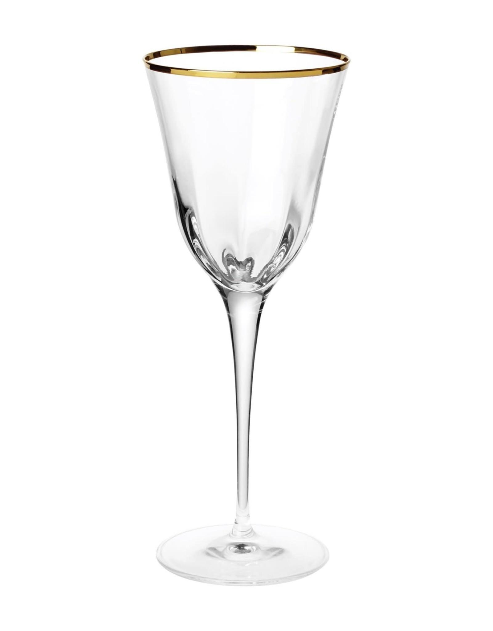 Vietri Optical Gold Water Glass