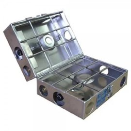"Partner Steel 2 Burner 9"" stove with break-apart hinge"