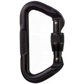 Omega Omega Standard Locking D Carabiner Black