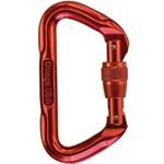 Omega Omega Standard Locking D Carabiner Red