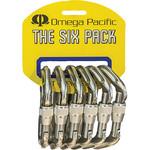 Omega Omega Standard Locking D Carabiner 6 Pack