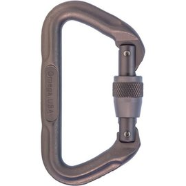 Omega Omega Standard Locking D Carabiner Grey