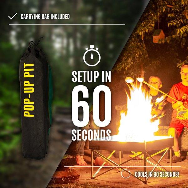 Fireside Outdoors Fireside Outdoor Pop-Up Pit Shield Combo