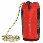 Level Six Level Six Quickthrow Pro - 3/8 static polypropylene floating rope - Orange