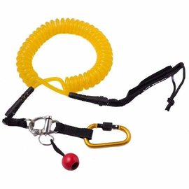 Level Six Level Six Quick-Release SUP Leash Coiled