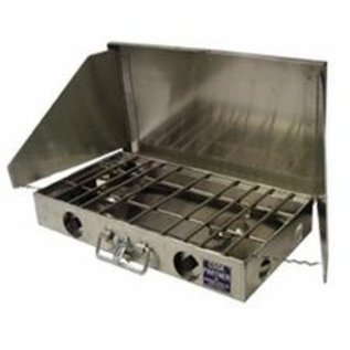 "Partner Steel Co Partner Steel 2 Burner 22"" Cook Partner Stove with Windscreen"