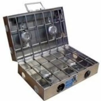 "Partner Steel Co Partner Steel 4 Burner 18"" Cook Partner Stove"