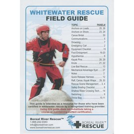 Boreal River Rescue Instructors Whitewater Rescue Field Guide