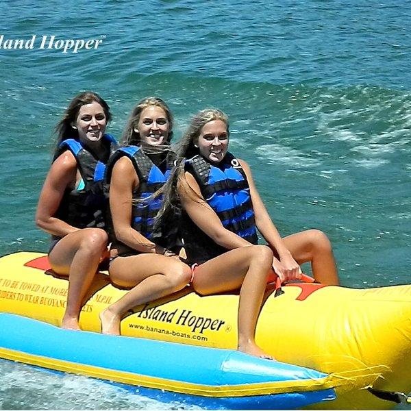 "Island Hopper Island Hopper ""Heavy Recreational"" 3 Passenger Banana Boat"