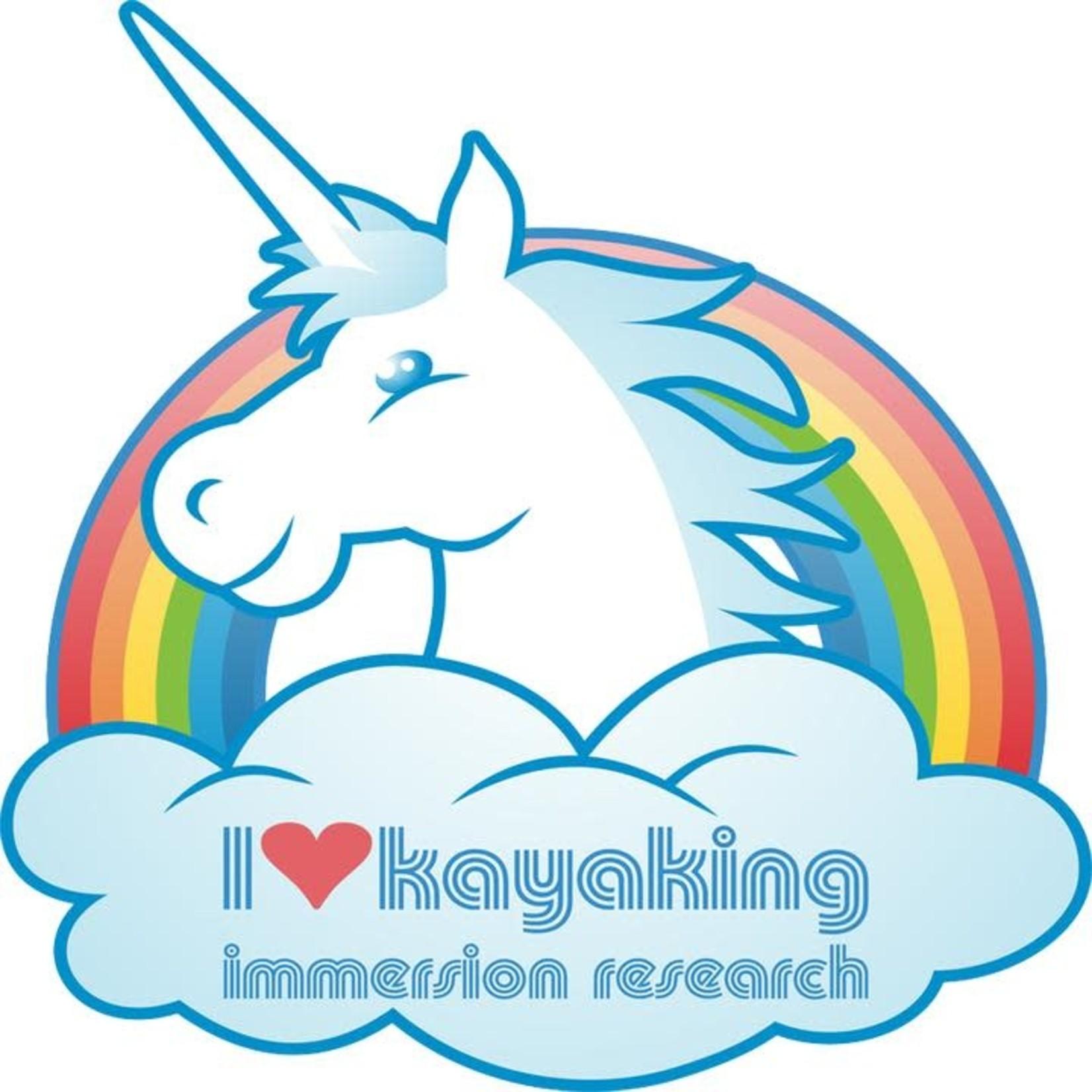 IR I Love Kayaking  (And More!) Sticker