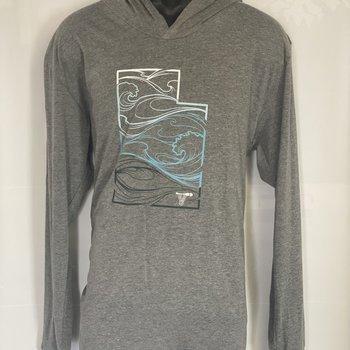 UWG UWG MC Utah Whitewater Wave Triblend Hooded Shirt