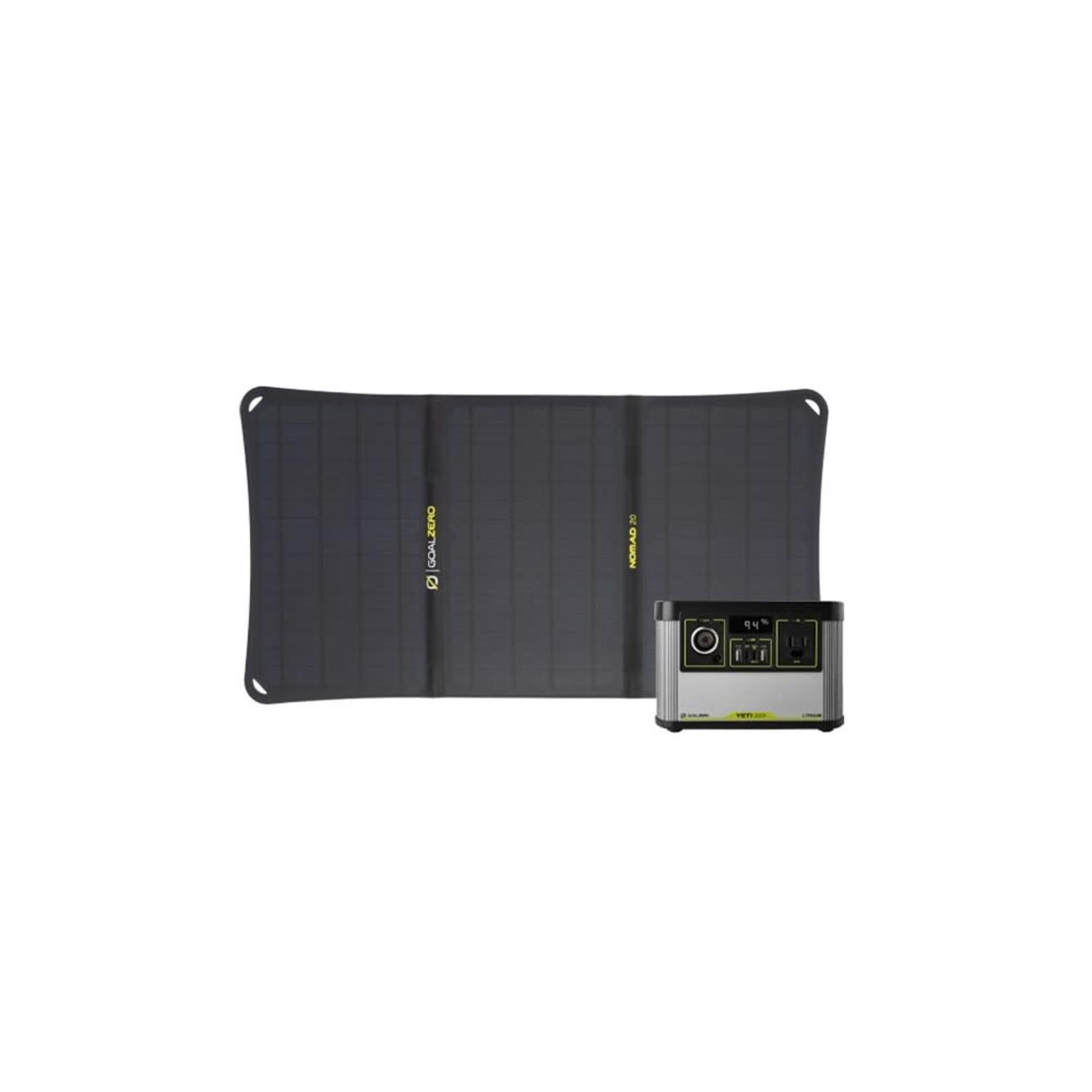 GOALZERO GOAL ZERO Yeti 200X Portable Power Station + Nomad 20 Solar Kit