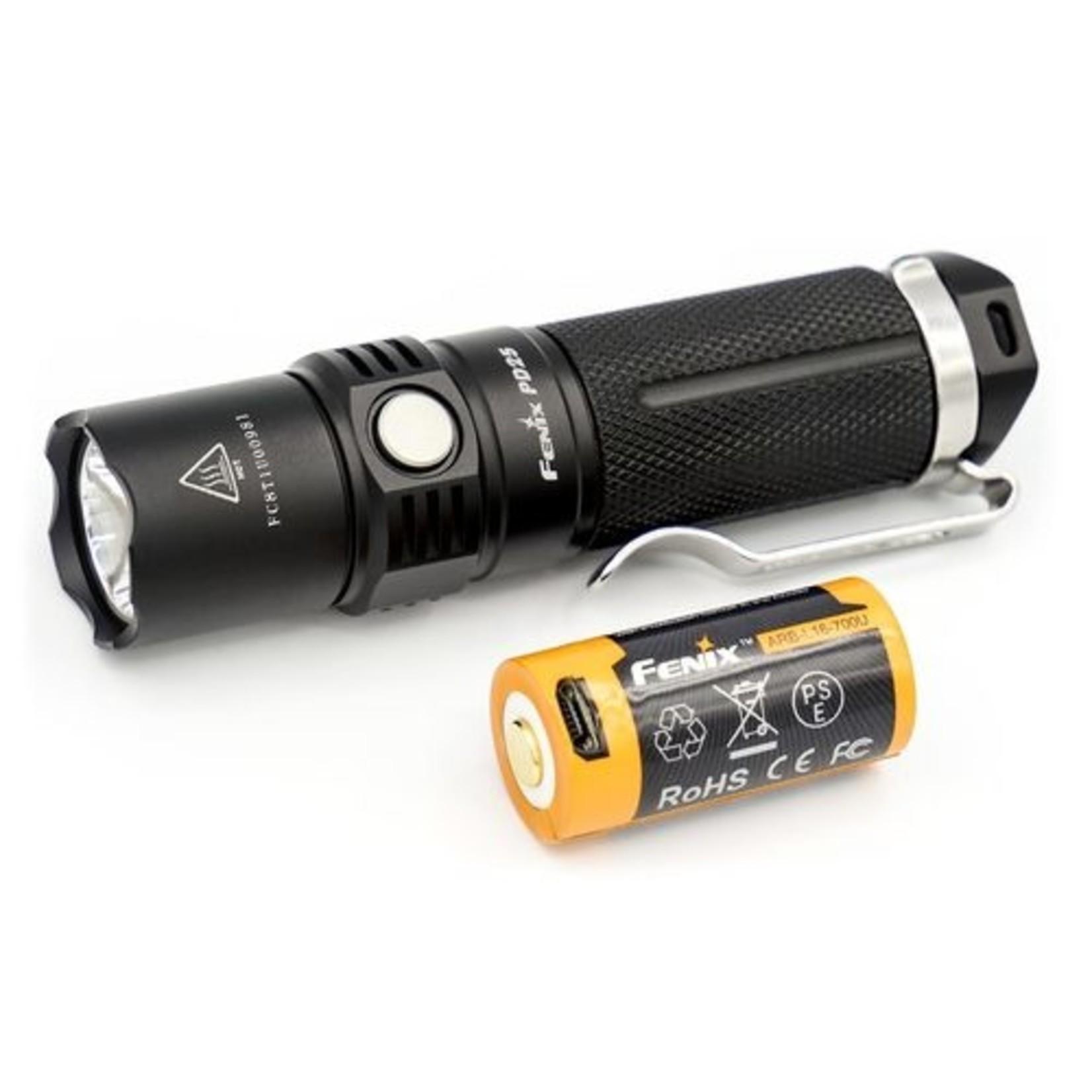 FENIX LIGHT PD25 FLASHLIGHT W/ 700U BATTERY