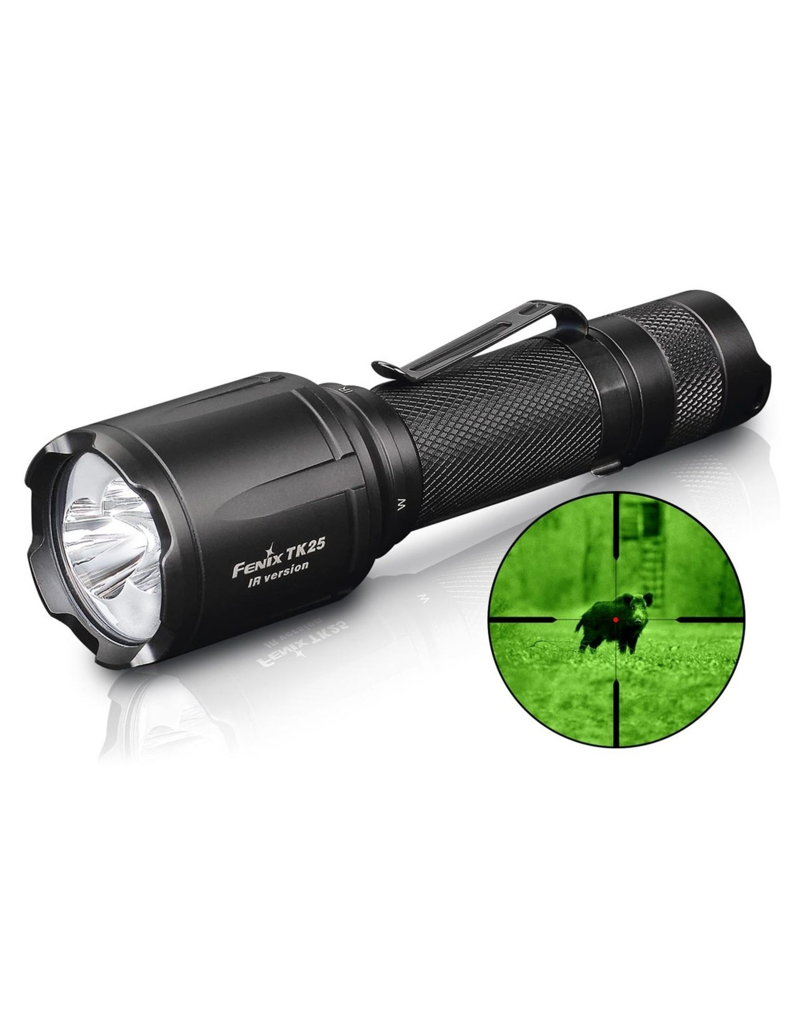 FENIX LIGHT FENIX TK25 IR FLASHLIGHT WITH INFRARED ILLUMINATOR
